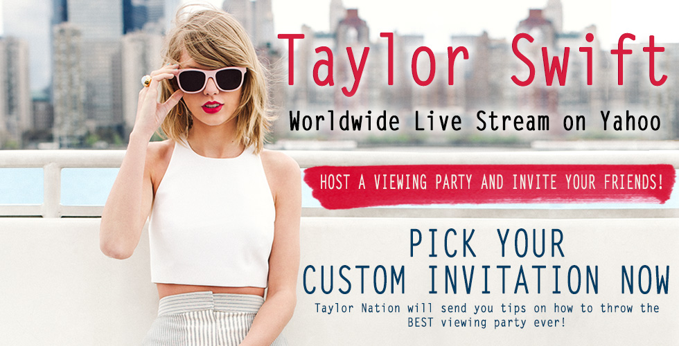 Throw A Taylor Swift Live Steam Viewing Party With Friends With ...