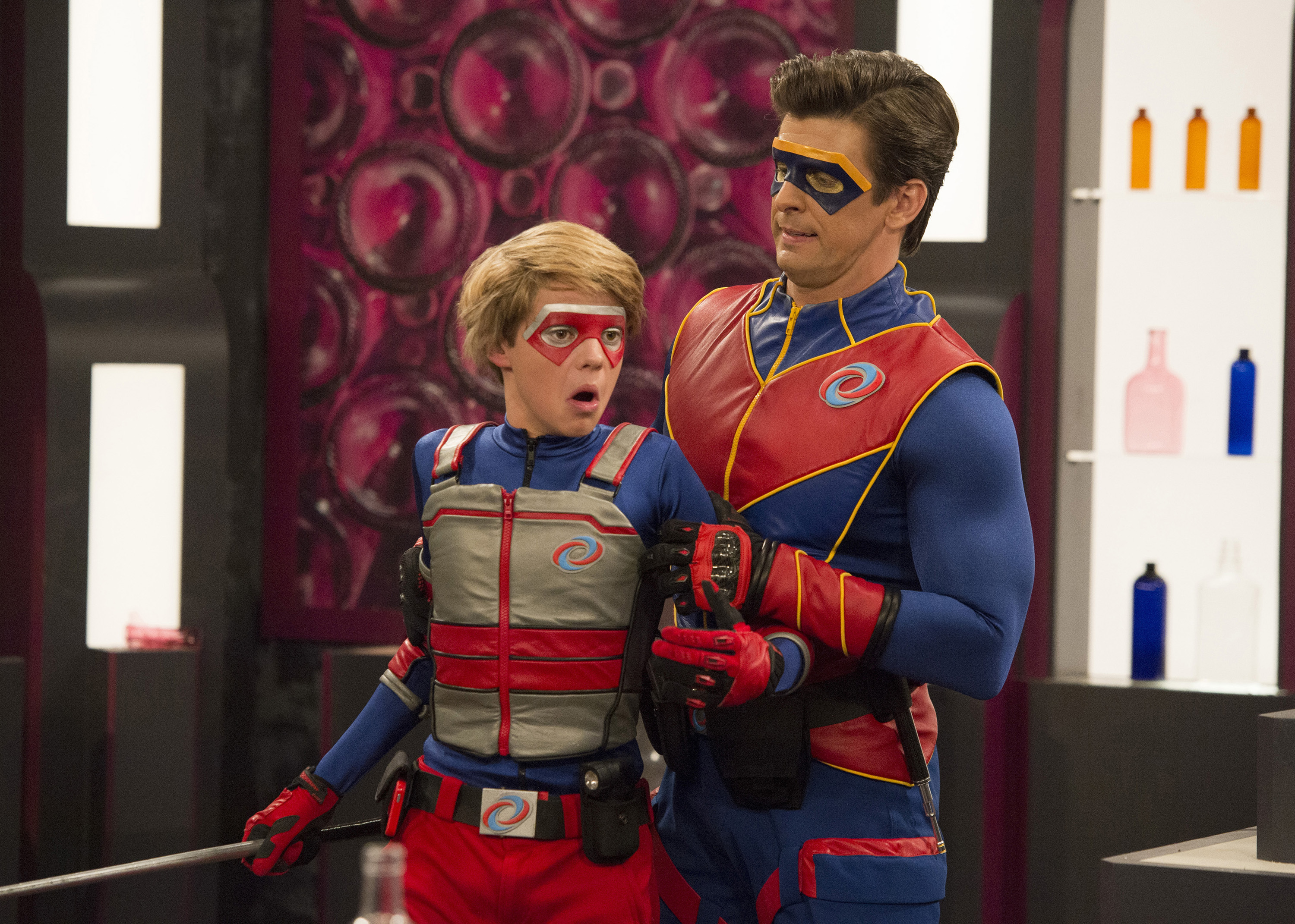 Pictured henry hart henry danger jace norman and captain man ray