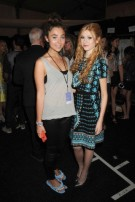 Celebrities backstage/front row at Nanette Lepore S/S15 Runway Show in NYC