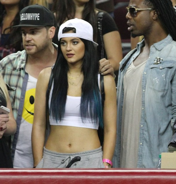 Karrueche, Kylie Jenner and Amber Rose come to watch Power 106 Game