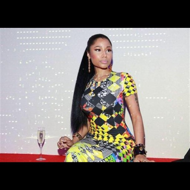 Nicki Minaj at the Versace show on 9/7/14.