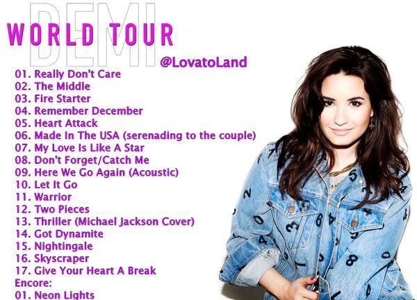 Setlist Spoiler Alert Click Demi Lovatos Tour Teeninfonet