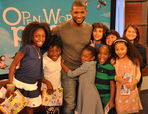 Usher and Scholastic team up to teach the importance of reading.