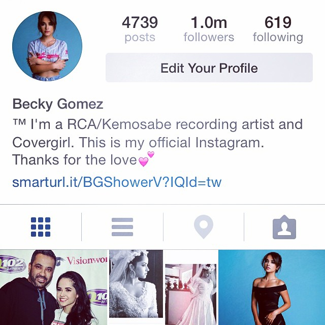 Popular Shower Singer Becky G Couldnt Help But Share A Bout Of Happiness On Instagram Today October 5th The Music Artist Made It Up To Over 1 Million