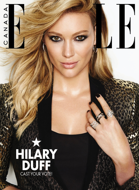 Hilary duff is in elle canada s december 2014 issue for Elle subscription change address