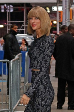 """Taylor Swift arrives at GMA to promote her new video 'Blank Space"""" in New York City"""