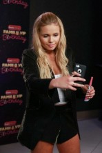 Olivia Holt, Zendaya Coleman and Alli Simpson take selfies as they blow noisemaker horns in honor of Radio Disney's Family VIP Birthday Concert