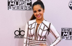 Becky G arrives at the 2014 American Music Awards held at Nokia Theatre L.A. Live