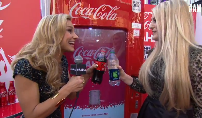 Meghan Trainor Shares Drink With Chelsea Briggs At 2014