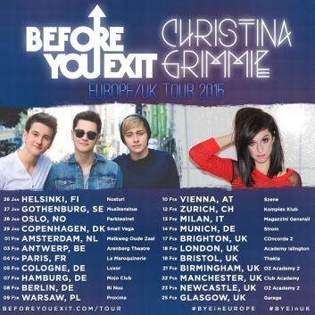 Image result for images, christina grimmie, before you exit