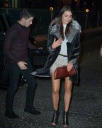 Nick Jonas and Olivia Culpo arriving at Taylor Swift's 25th Birthday Party at her Tribeca apartment in New York City