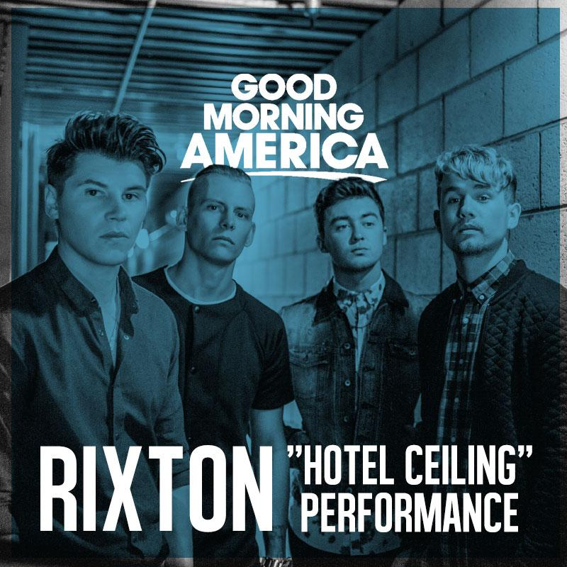 """Good Morning America Watch Live : Rixton performs """"hot ceiling live on 'good morning"""