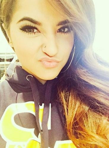 Becky-G-Nose-Pierced