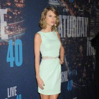 Taylor Swift arrives for SNL 40th Anniversary Special in NYC