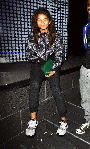 Zendaya all smiles after dinner at BOA in Los Angeles, CA