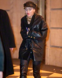 Miley Cyrus attends SNL 40