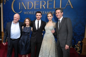 David Barron, Allison Shearmur, Richard Madden, Lily James, Simon Kinberg